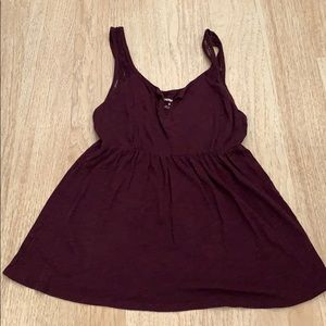 Express Purple Tank with Lace Straps